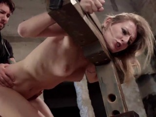 Sasha blonde blowjob and fucked from behind